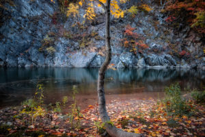 定山渓紅葉画像